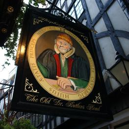 The Old Doctor Butler's Head Moorgate Swingsign