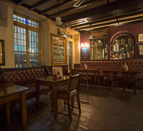 The Old Doctor Butler's Head Moorgate Food in the Bar